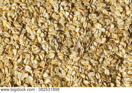 Oat Flakes, Oat Flakes Photo, Oat Background. Texture, Diet Food For Breakfast