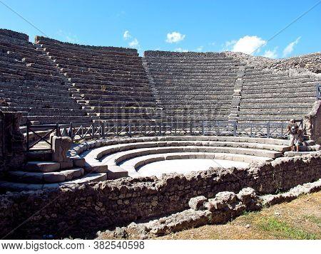 Pompeii / Italy - 22 Jul 2011: Ancient Roman Ruins In Pompeii, Italy