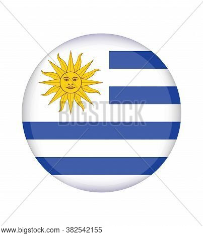 National Uruguay Flag, Official Colors And Proportion Correctly. National Uruguay Flag.