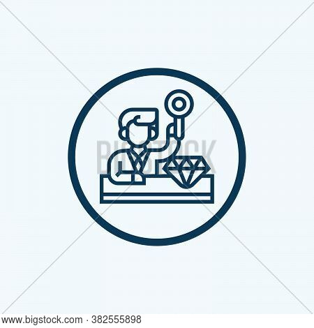 Black Line Icon For Dealer Trader Merchant Business-man Vendor Wholesaler Marketer Home-dealer Agent