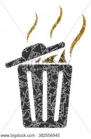 Debris Mosaic Smell Trash Can Icon. Smell Trash Can Collage Icon Of Debris Items Which Have Various