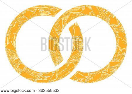 Fraction Mosaic Marriage Rings Icon. Marriage Rings Mosaic Icon Of Shatter Items Which Have Various