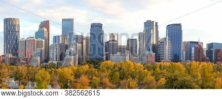 CALGARY, ALBERTA, CANADA - September 29 , 2017- Calgary is the third-largest municipality in Canada and largest in Alberta Province.