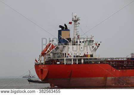 Mumbai, Maharastra/india- November 22 2019: Shipping Industry Suffering From Trade War. Segment Of S