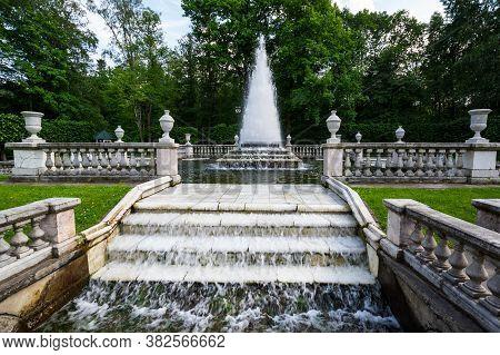Saint- Petersburg, Russia - June 18, 2018: The Fountain