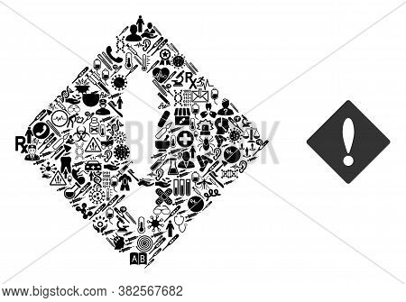 Mosaic Error With Healthcare Icons And Basic Icon. Mosaic Vector Error Is Designed With Healthcare S