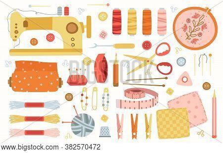 Sewing Elements. Needlework Handmade Hobby Tools, Sewing, Needlework, Knitting Accessories, Machine,