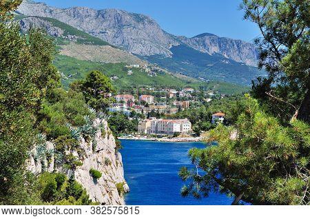 Nice View Of The Mountain Biokovo From Cape St Peter. Makarska, Dalmatia, Croatia.