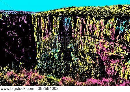 Itaimbezinho Canyon With Steep Rocky Cliffs Near Cambara Do Sul. A Town With Amazing Natural Tourist