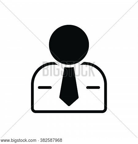 Black Solid Icon For Male Man Husband Manly Person Adult Human Being Gentleman Businessman He Gent F
