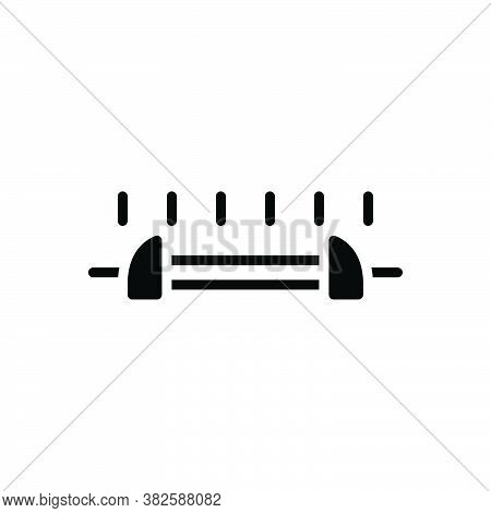 Black Solid Icon For Range Spectrum Limit Boundary Meter Length Space Dimension Area