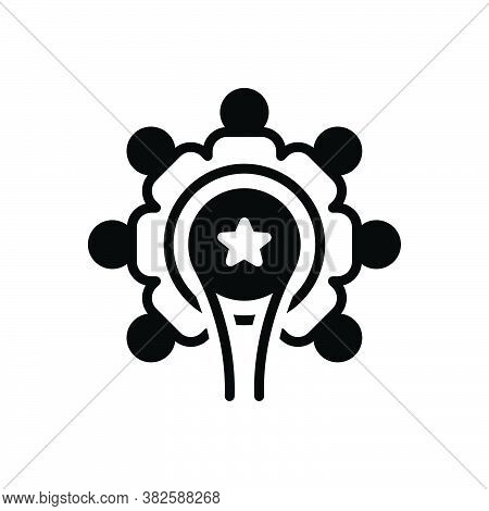 Black Solid Icon For Union Unification  League Organization Company Combination Merging Group