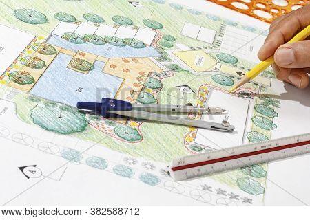 Landscape Architect Design For Hotel Resort Plan