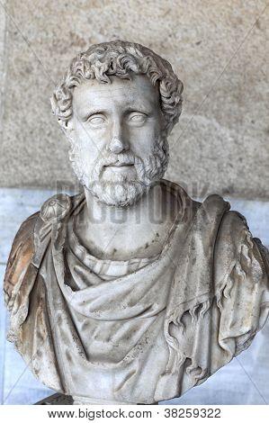 Bust Of Roman Emperor Antoninus Pius