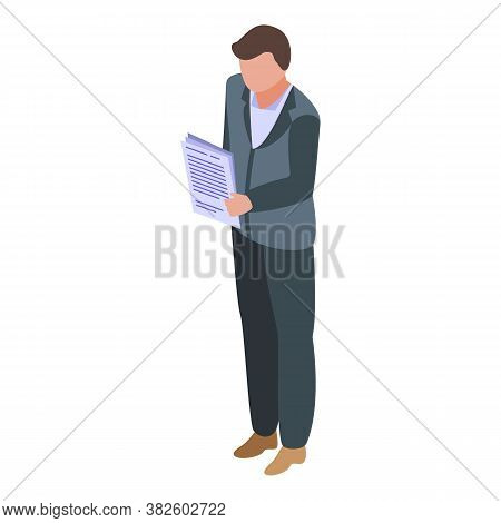 Jobless Manager Icon. Isometric Of Jobless Manager Vector Icon For Web Design Isolated On White Back