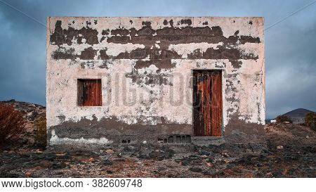 Old Abandoned Small Building Vandalized By Time