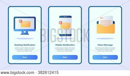 Desktop Notification Mobile Notification Inbox Message For Mobile Apps Template Banner Page Ui With