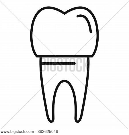 Tooth White Implant Icon. Outline Tooth White Implant Vector Icon For Web Design Isolated On White B