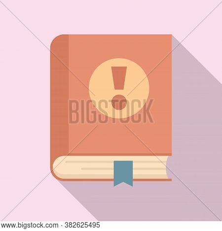 Mission Book Icon. Flat Illustration Of Mission Book Vector Icon For Web Design