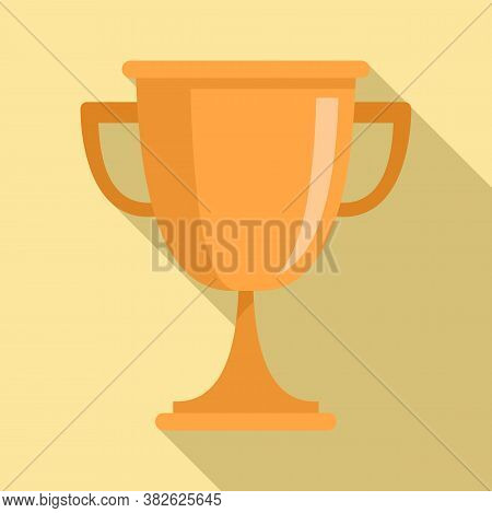 Mission Gold Cup Icon. Flat Illustration Of Mission Gold Cup Vector Icon For Web Design