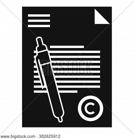 Mission Document Icon. Simple Illustration Of Mission Document Vector Icon For Web Design Isolated O