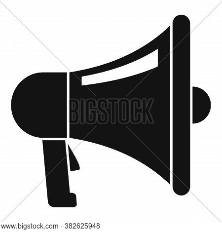 Mission Megaphone Icon. Simple Illustration Of Mission Megaphone Vector Icon For Web Design Isolated