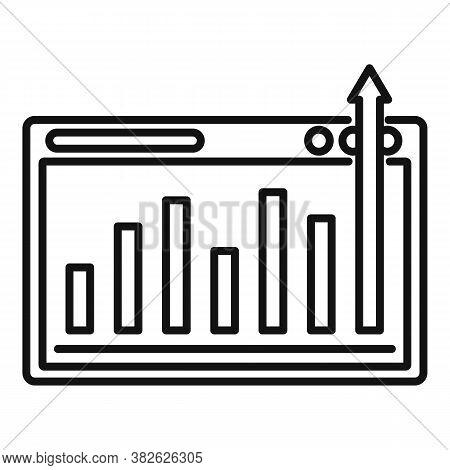 Graph Chart Mission Icon. Outline Graph Chart Mission Vector Icon For Web Design Isolated On White B