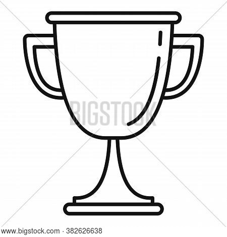 Mission Gold Cup Icon. Outline Mission Gold Cup Vector Icon For Web Design Isolated On White Backgro