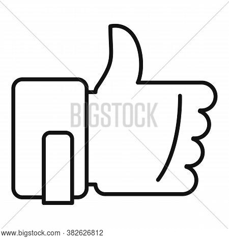 Thumb Up Mission Icon. Outline Thumb Up Mission Vector Icon For Web Design Isolated On White Backgro