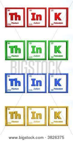 Chemical Symbol Word Think