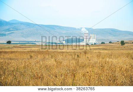 Paisaje de verano cerca de Kastoria