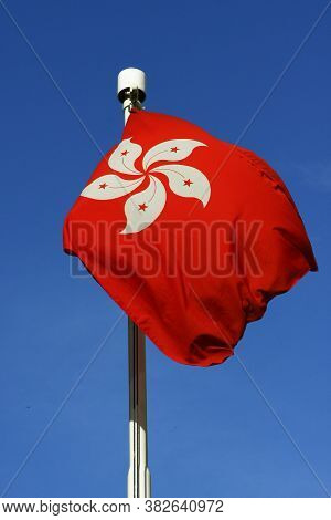 The Red Color Of Hong Kong Flag 2 Aug 2008