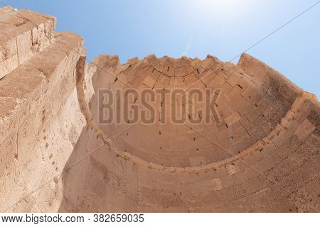 The Northern Church In Ruins Of Shivta - A National Park In Southern Israel, Includes The Ruins Of A