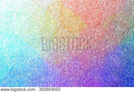 Abstract Illustration Of Red Low Coverage Color Pencil Background.
