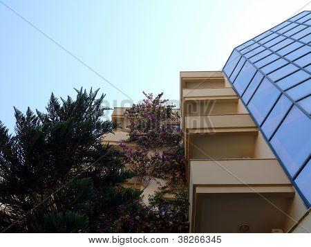 Facade Of Hotel In Alania, Turkey