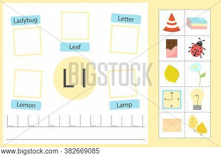 Alphabet Tracing Worksheet For Preschool And Kindergarten. Writing Practice Letter L. Exercises With