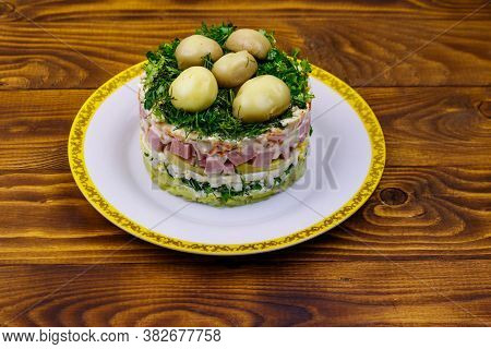 Traditional Russian Layered Salad