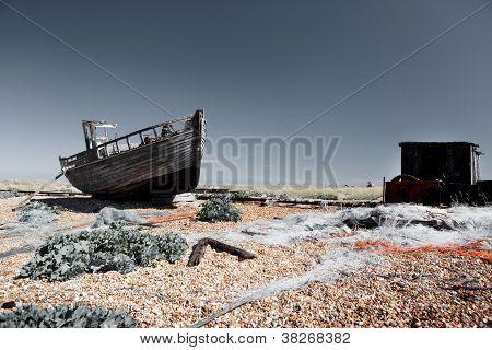 Trawler Fishing Boat Wreck Derelict