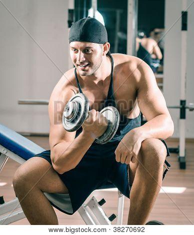 Gym training workout