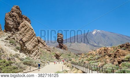 Views Of Mount Teide And Volcanic Formations, National Park Teide.tenerife. Canary Islands, Spain.