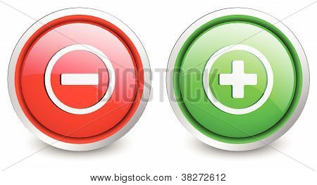 2 popular buttons - plus and minustons