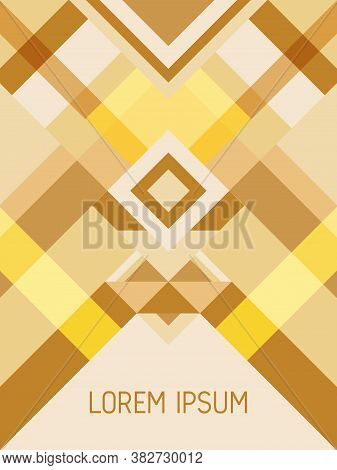 Cover Page Layout Vector Template Geometric Design With Triangles And Stripes Pattern For Business P