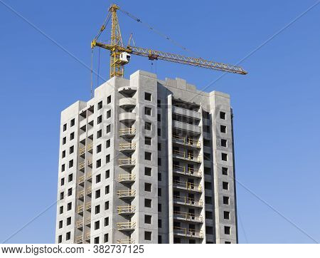 Construction Of Apartment Buildings For Housing A Large Number Of People And Families In A Provincia