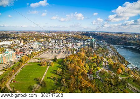 Niagara falls, Canada-Oct 28, 2019: Niagara Falls is city on the western bank of the Niagara River, Ontario. Canada.