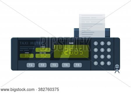 Taximeter Device, Calculating Equipment For Passenger Fare In Taxi Car, Electronic Measurement Appli
