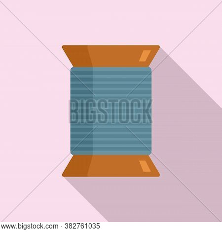 Thread Coil Icon. Flat Illustration Of Thread Coil Vector Icon For Web Design