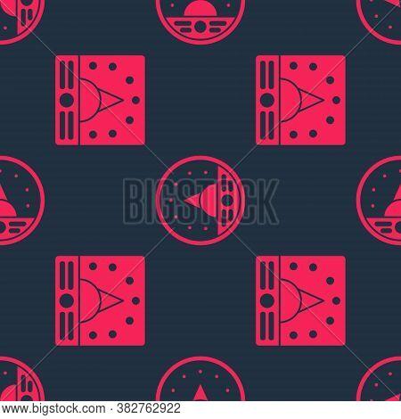 Set Ampere Meter, Multimeter, Voltmeter And Ampere Meter, Multimeter, Voltmeter On Seamless Pattern.