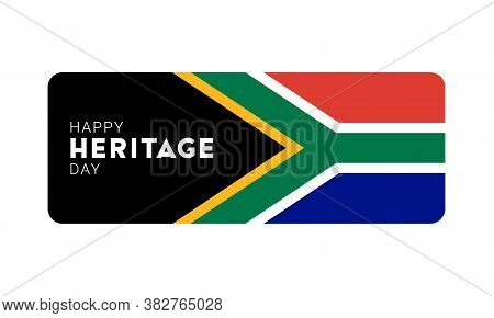 Happy Heritage Day - 24 September - Horizontal Banner Template With The South African Flag And Text