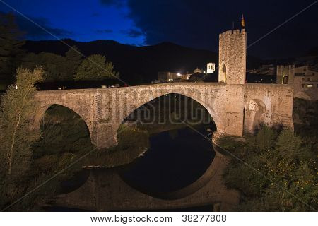 Medieval Bridge in the City of Besalu