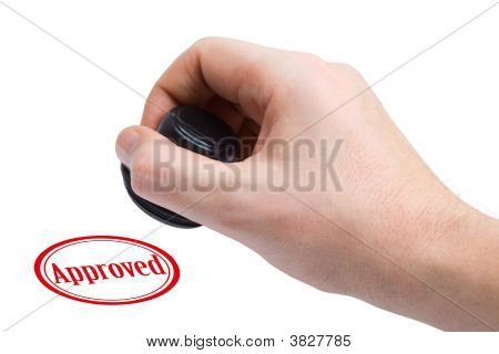 Hand And Rubber Stamp Approved
